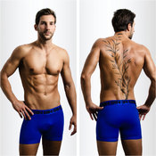 Blue Boxer-Briefs S