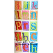 Assorted Large Letter Magnets - Mag012