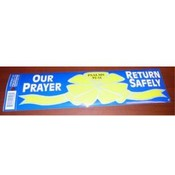 "Patriotic Bumper Sticker ""Return Safely"""