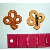 Shamrock Shaped Hallmark Pretzel Lapel Pin