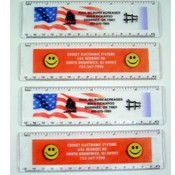 Imprinted Acrylic 6 Inch Rulers