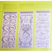Miss Elizabeth Wedding Silver Rub-On Stickers Wholesale Bulk