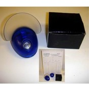 Blue Plastic Desk Accessory Paper Holder