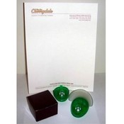 Green Plastic Desk Accessory Paper Holder