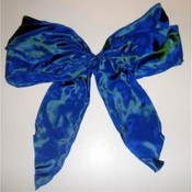 Large Iridescent Blue Bow