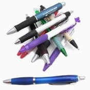IMPRINTED plastic retractable PENS