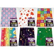 Assorted Gift Wrap (2 Jumbo Sheets - 26' X 37') Wholesale Bulk