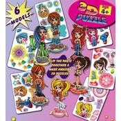 Assorted 3D Mini Cartoon Girl Puzzles