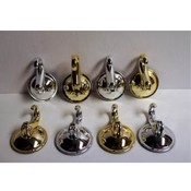 Large Silver/Gold Suction Hooks - Holds up to 7 lb