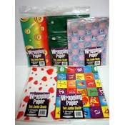 Assorted Flat Wrap Gift Wrapping Paper 2 Jumbo Sheets 26'X37' Wholesale Bulk
