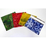 Assorted Mylar Gift Card Bag with Adhesive Closure Wholesale Bulk