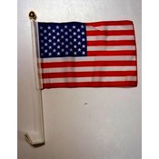Patriotic USA American Polyester Car Flags