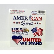 Patriotic Clings - Window Decorations Wholesale Bulk