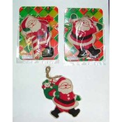 Cloth Hanging Santa Ornament