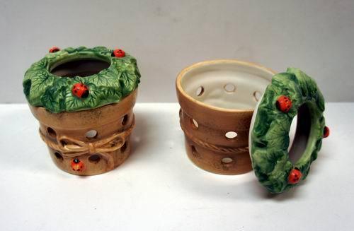 Hallmark Marjolein Bastin Red Ladybug Porcelain TEALIGHT Holder with Lid [1346276]