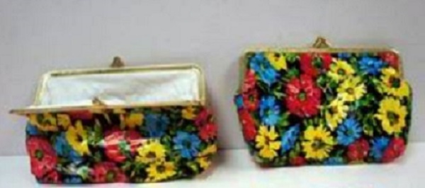 Floral Design Snap-Closure Coin PURSE Wallet [1078919]