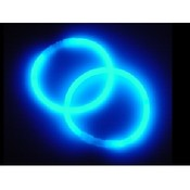 "Awesome 8"" BLUE Glo Bracelets.  2 PC. Set"