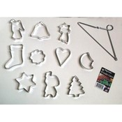 Metal Cookie Cutters on Hanging Triangle