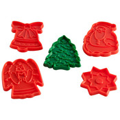 Holiday Cookie Cutters,  Set of 5