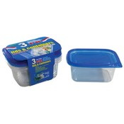 24 oz. 3 pk Rectangle Containers