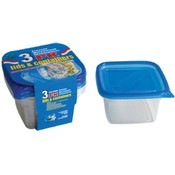 30 oz Deep Round Square Containers- 3 pk Wholesale Bulk