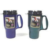 Assorted Colors - 16 OZ. Plastic Travel Mug Wholesale Bulk