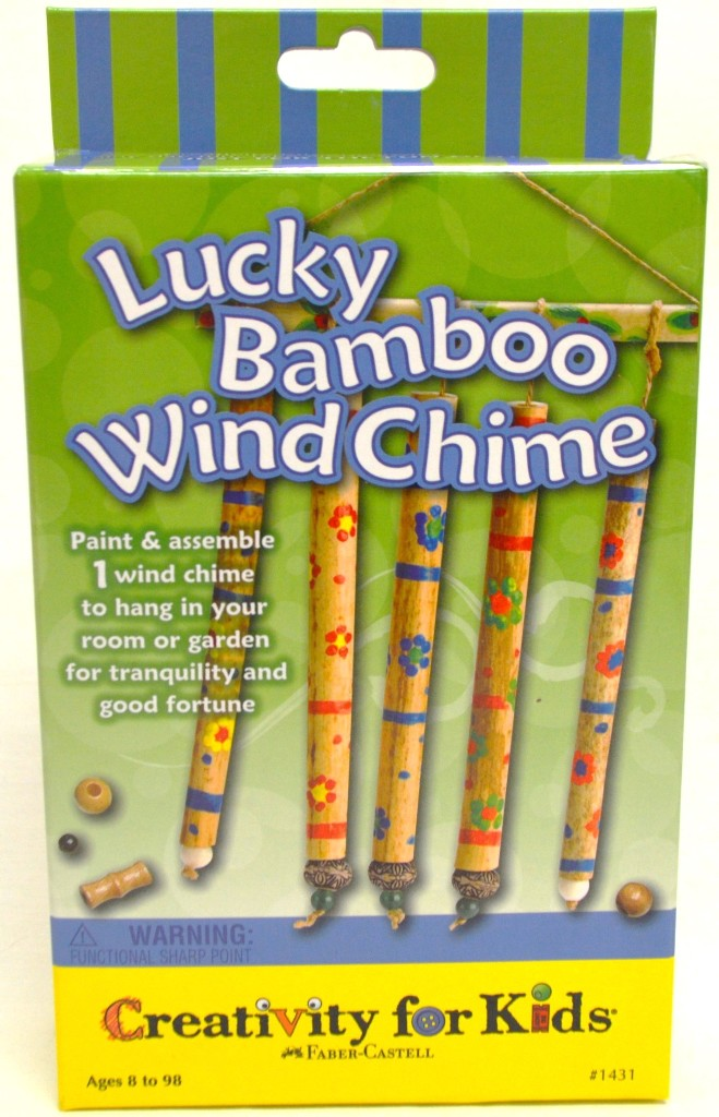 Wholesale lucky bamboo wind chime kids craft kit sku for Craft kits for kids in bulk
