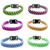 Neon Paracord Braid Bracelets