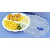 "9"" Divided Microwave Dish & Cover"