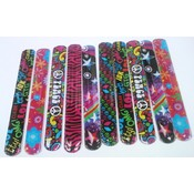 72 pc Assorted Hip and Trendy Slap Bracelets