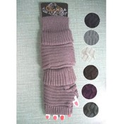 Ladies Knitted Arm Warmers- Assorted Colors