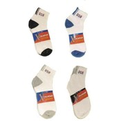 """BRAVE "" Quarter Cotton Sport Socks-  w/  USA Logo"