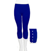 Seamless ' Capri w/ Accessory- Royal Blue