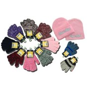 Women&#39;s Winter Gloves and Beanies-Closeout