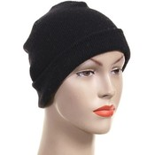 "10.5""in. Black Beanie"