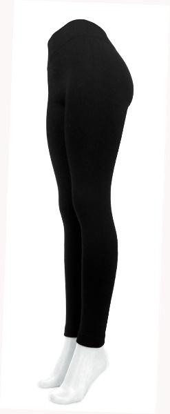 Women's Plus Size Black Fleece Leggings [1489103]