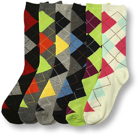 Women's Argyle Crew Socks - Size 9-11 [1489101]