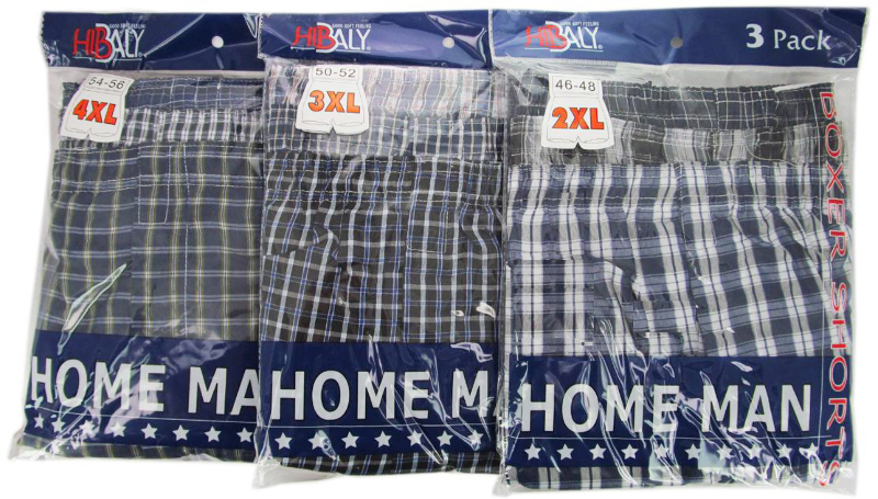 HomeMan Men's 3-Pack Boxer Short - Size 4XL [1333624]