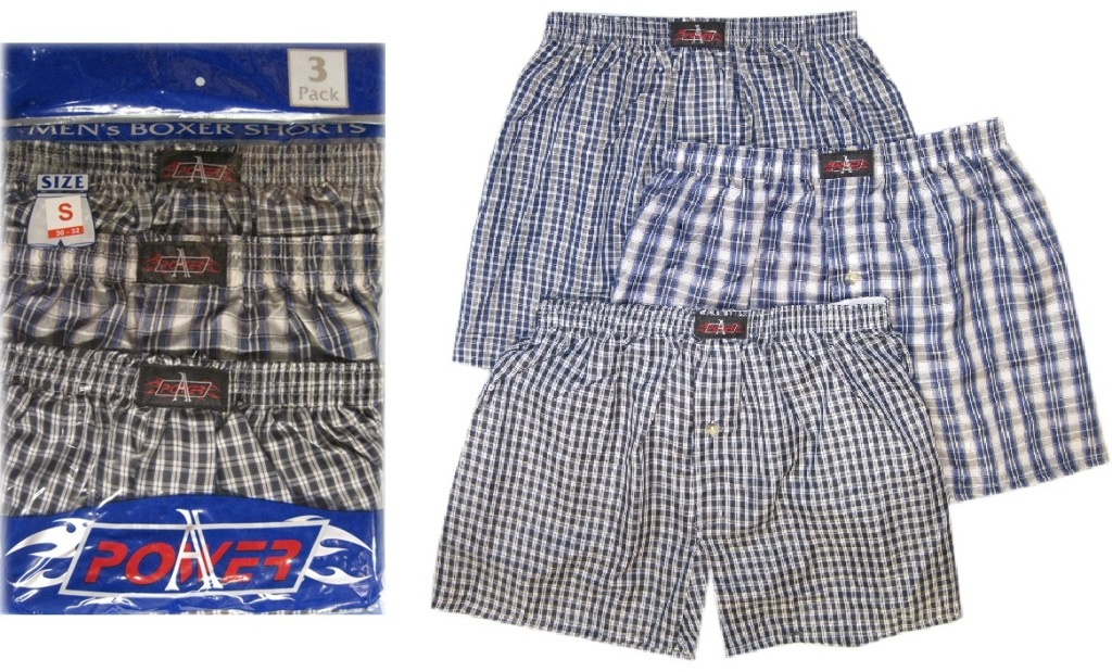 A-POWER Men's Boxer Shorts 3-Pack - Sizes M-XL (1795002)