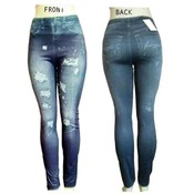 "Ladies Footless Leggings  ""Jeggings""/ Blue -L/XL"