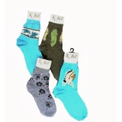 Women's K-BELL Socks- Leaves Print