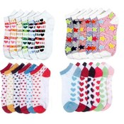 Ladies Ankle Socks-Assorted Designs