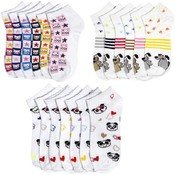 Ladie's Spandex Socks, 9-11; 3 Animal designs
