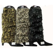 Ladies Fur Leg Warmers