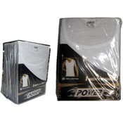 Men's 100% Cotton- Single Pc/Pk Undershirts Wholesale Bulk