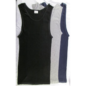 Men's Cotton 2x2 Rib A-shirt Asst. - Large Wholesale Bulk