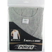 Men's Single Pc Grey Wholesale Undershirts-Size Medium Wholesale Bulk