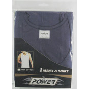 Men's Single Pc Navy Wholesale Undershirts-Size Medium Wholesale Bulk