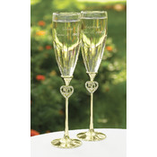 Jeweled 50th Anniversary Flutes