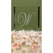 Script Initial Cake Top - W